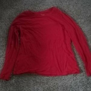 Red pajama shirt